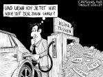 Karikatur, Cartoon: Klimatanken Steuern © Roger Schmidt