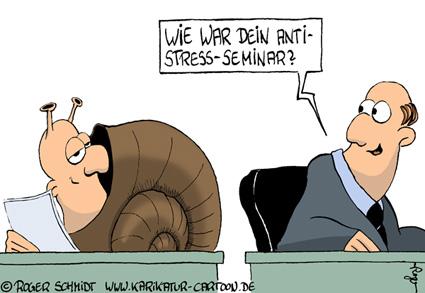 Karikatur, Cartoon: Tipps zum Stress abbauen, © Roger Schmidt