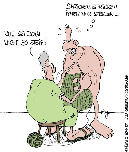 Karikatur, Cartoon: Stricken, © Roger Schmidt