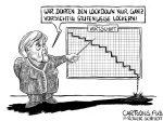 Karikatur, Cartoon: Stufenweise Lockerung des Lockdowns © Roger Schmidt