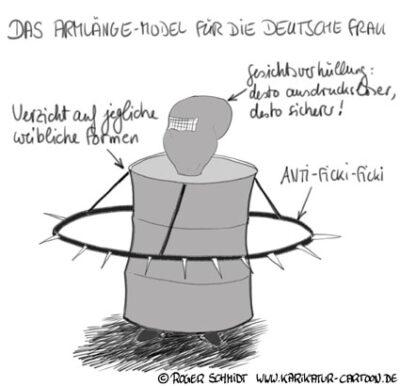 Karikatur, Cartoon: Silvester Exzesse in Köln, © Roger Schmidt