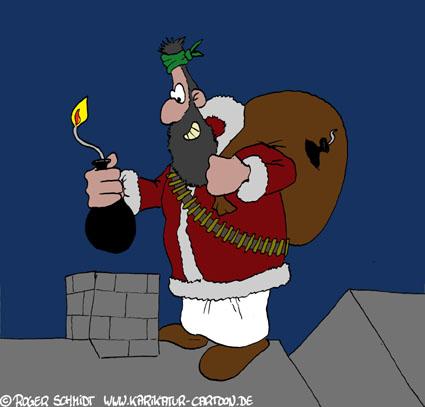 Karikatur, Cartoon: Terroranschlag, © Roger Schmidt