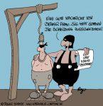 Karikatur, Cartoon: Testament, © Roger Schmidt