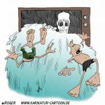Karikatur, Cartoon: Todeswelle, © Roger Schmidt