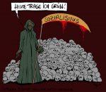 Karikatur, Cartoon: Der grüne Todestrieb im Sozialismus, © Roger Schmidt
