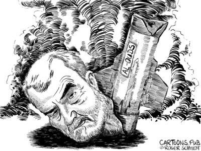 Karikatur, Cartoon: Top-Terrorist Qassem Soleimani tot © Roger Schmidt