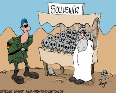 Karikatur, Cartoon: Totenkopf, © Roger Schmidt