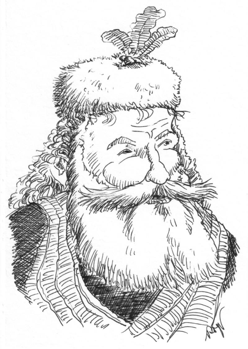Karikatur, Cartoon: Trapper Santa Claus © Roger Schmidt