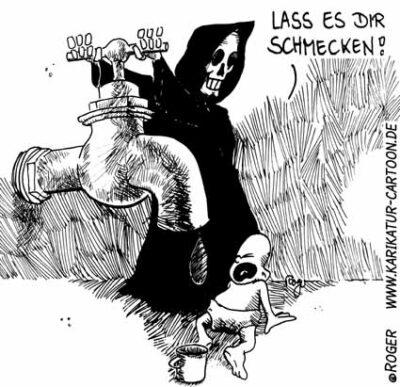 Karikatur, Cartoon: Trinkwasser, © Roger Schmidt