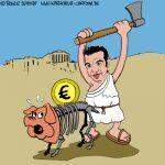 Karikatur, Cartoon: Tsipras gewinnt Wahlen in Griechenland, © Roger Schmidt