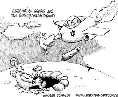 Karikatur, Cartoon: UN-Beobachter, © Roger Schmidt