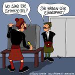 Karikatur, Cartoon: Unabhängigkeit von Schottland, © Roger Schmidt