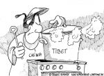 Karikatur, Cartoon: Unterdrückung in Tibet, © Roger Schmidt