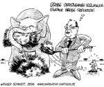Karikatur, Cartoon: Unternehmenssteuerreform, © Roger Schmidt