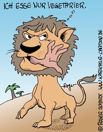 Karikatur, Cartoon: Vegetarier, © Roger Schmidt