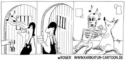 Karikatur, Cartoon: Vergesslichkeit, © Roger Schmidt