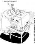Karikatur, Cartoon: Verkehrsinfarkt, © Roger Schmidt
