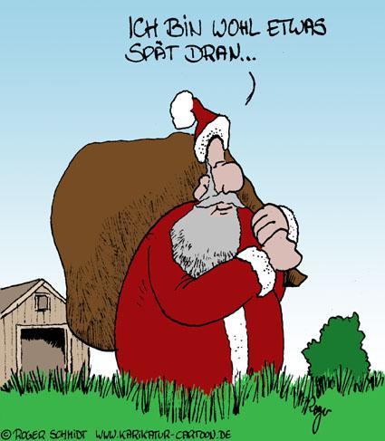 Karikatur, Cartoon: Verspätung, © Roger Schmidt