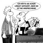 Karikatur, Cartoon: Telefongespräch unerwünscht, © Roger Schmidt