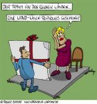 Karikatur, Cartoon: Vier eigene Wände, © Roger Schmidt