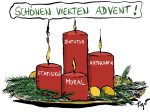 Karikatur, Cartoon: Vierter Advent 2019 © Roger Schmidt