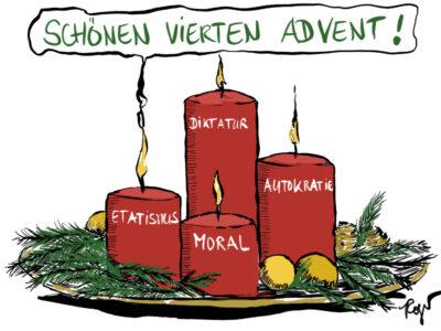 Karikatur, Cartoon: Vierter Advent 2019 © Roger Schmidt
