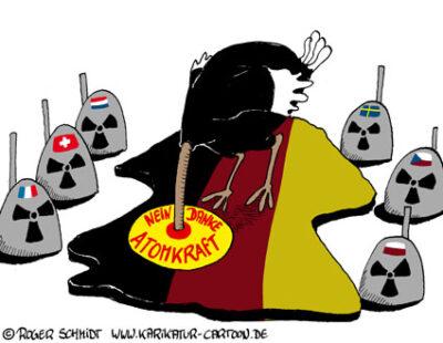 Karikatur, Cartoon: Vogel Strauß Politik, © Roger Schmidt