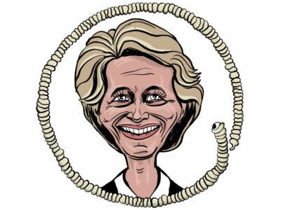 Karikatur, Cartoon: Ursula von der Leyen © Roger Schmidt