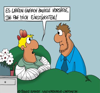 Karikatur, Cartoon: Vorsätze für das Neue Jahr, © Roger Schmidt