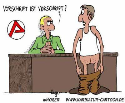 Karikatur, Cartoon: Vorschrift, © Roger Schmidt
