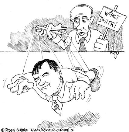 Karikatur, Cartoon: Wahlen in Russland, © Roger Schmidt