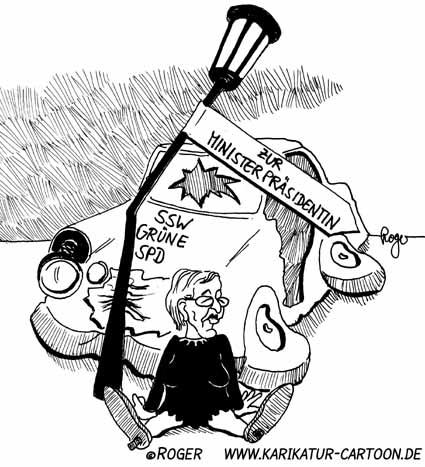Karikatur, Cartoon: Wahlschlappe, © Roger Schmidt