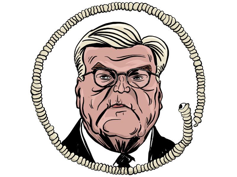 Karikatur, Cartoon: Walter Steinmeier © Roger Schmidt