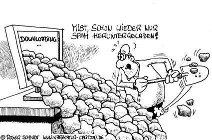 Karikatur, Cartoon: Was ist Spam?, © Roger Schmidt