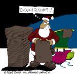 Karikatur, Cartoon: Bilder zu Weihnachten, © Roger Schmidt