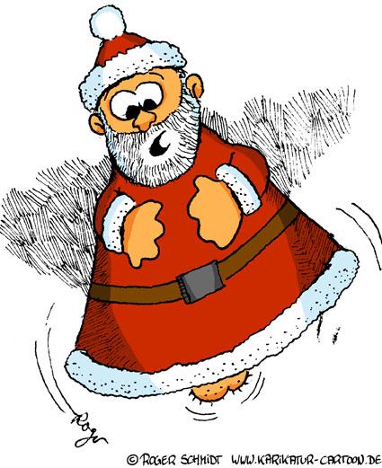 Karikatur, Cartoon: Dekoration für Weihnachten, © Roger Schmidt