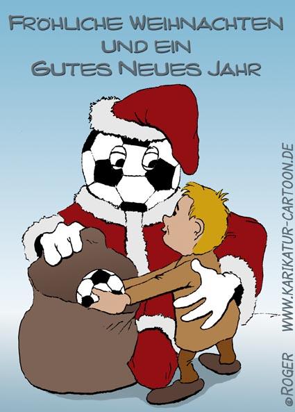 Karikatur, Cartoon: Weihnachtsfest, © Roger Schmidt