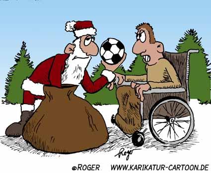 Karikatur, Cartoon: Weihnachtsmann, © Roger Schmidt