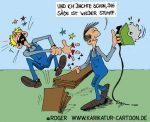 Karikatur, Cartoon: Werkzeug, © Roger Schmidt