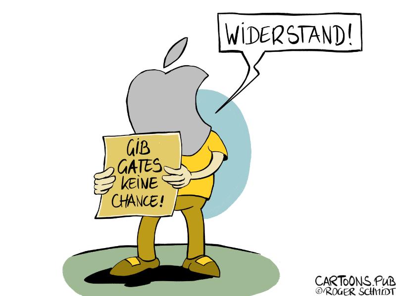 Karikatur, Cartoon: Widerstand gegen Corona-Massnahmen auf Hygiene-Demos © Roger Schmidt