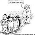 Karikatur, Cartoon: Wir schaffen das!, © Roger Schmidt