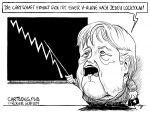 Karikatur, Cartoon: Wirtschaft erholt sich mit V-Kurve © Roger Schmidt