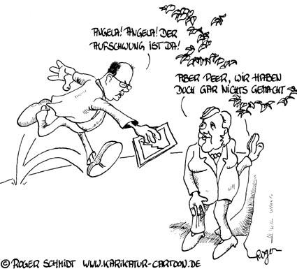 Karikatur, Cartoon: Wirtschaftswunder, © Roger Schmidt