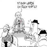 Karikatur, Cartoon: Wolfgang Schäuble als Finanzminister, © Roger Schmidt