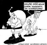 Karikatur, Cartoon: Wunschzettel für den Weihnachtsmann, © Roger Schmidt