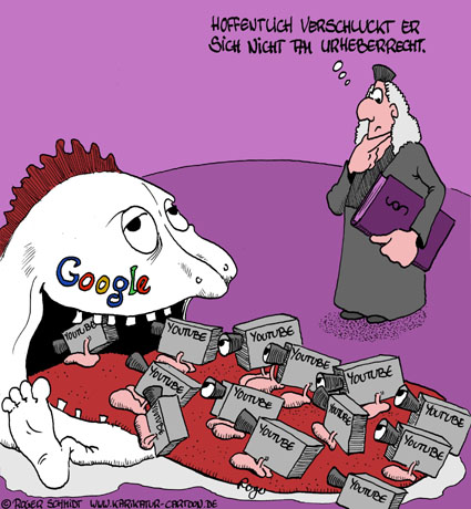 Karikatur, Cartoon: Youtube, © Roger Schmidt