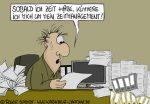 Karikatur, Cartoon: Zeitmanagement-und-Stress, © Roger Schmidt