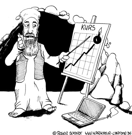 Karikatur, Cartoon: Zerrspiegel der globalisierten Welt, © Roger Schmidt
