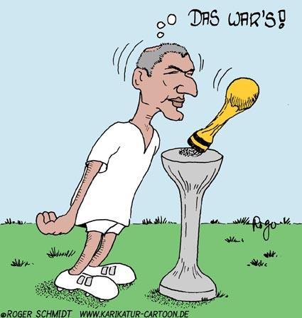 Karikatur, Cartoon: Zinedine Zidane, © Roger Schmidt