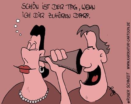 Karikatur, Cartoon: Zuhören, © Roger Schmidt